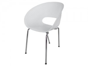 White Oyster Chair