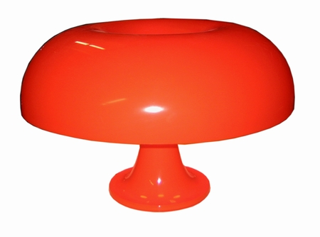 Red artemide lamp
