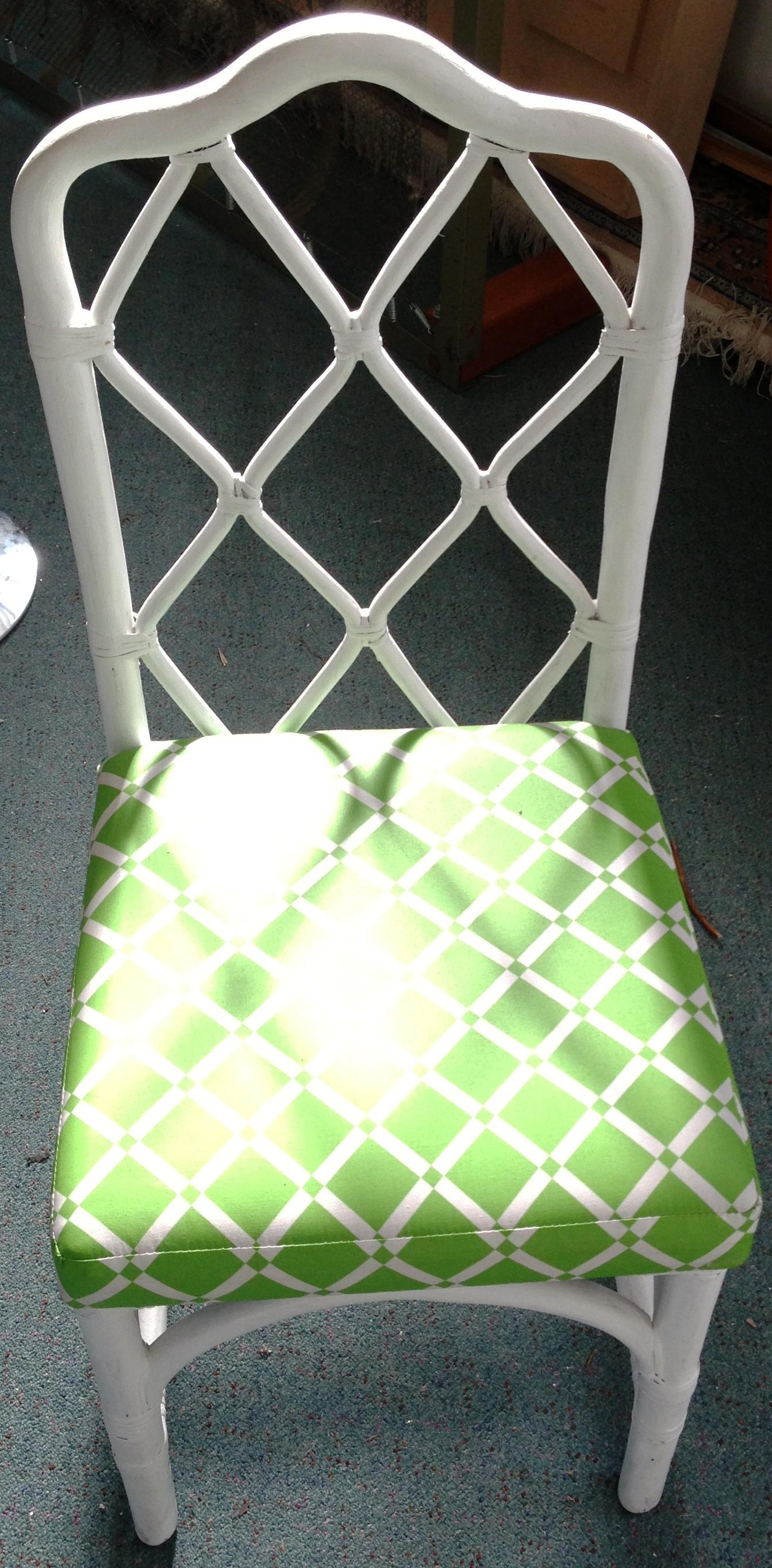 White Bamboo Garden chairs