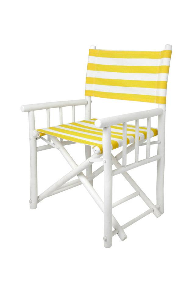 bamboo chair yellow